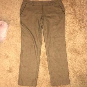 Ann Taylor Loft straight leg plaid pants